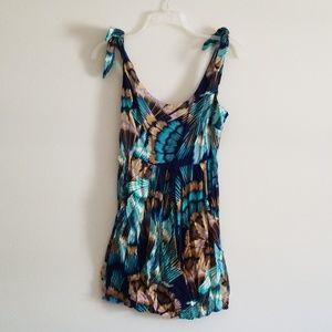 Bar III Tropical Print Earthy Colored Dress
